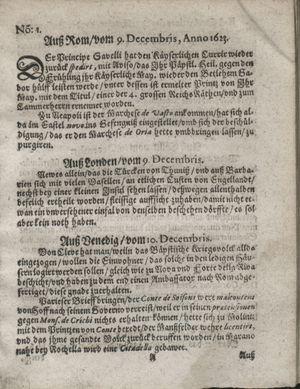 Zeitung so im ... Jahr von Wochen zu Wochen colligirt und zusammen getragen worden vom 15.01.1624
