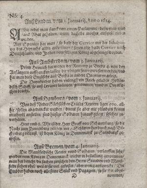 Zeitung so im ... Jahr von Wochen zu Wochen colligirt und zusammen getragen worden on Feb 5, 1624