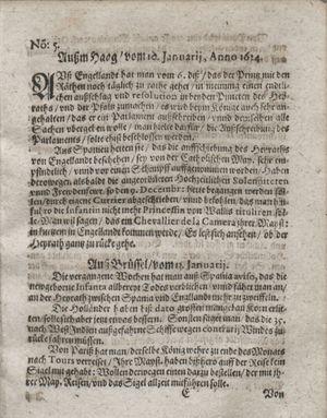 Zeitung so im ... Jahr von Wochen zu Wochen colligirt und zusammen getragen worden vom 12.02.1624