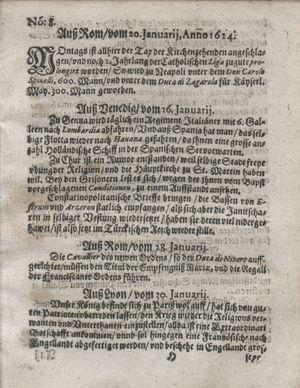 Zeitung so im ... Jahr von Wochen zu Wochen colligirt und zusammen getragen worden vom 04.03.1624
