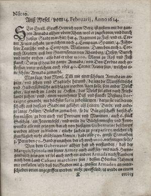 Zeitung so im ... Jahr von Wochen zu Wochen colligirt und zusammen getragen worden on Mar 18, 1624