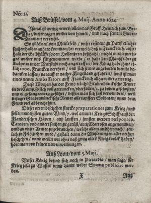 Zeitung so im ... Jahr von Wochen zu Wochen colligirt und zusammen getragen worden vom 03.06.1624