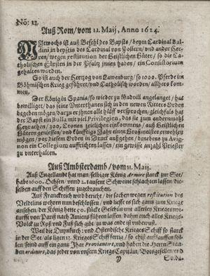 Zeitung so im ... Jahr von Wochen zu Wochen colligirt und zusammen getragen worden on Jun 10, 1624