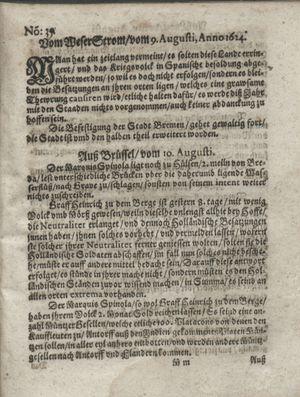 Zeitung so im ... Jahr von Wochen zu Wochen colligirt und zusammen getragen worden vom 09.09.1624