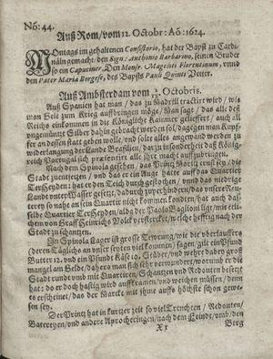 Zeitung so im ... Jahr von Wochen zu Wochen colligirt und zusammen getragen worden vom 11.11.1624