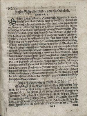 Zeitung so im ... Jahr von Wochen zu Wochen colligirt und zusammen getragen worden vom 02.12.1624