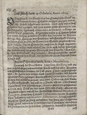 Zeitung so im ... Jahr von Wochen zu Wochen colligirt und zusammen getragen worden vom 09.12.1624