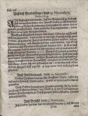 Zeitung so im ... Jahr von Wochen zu Wochen colligirt und zusammen getragen worden vom 23.12.1624