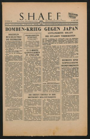 Supreme Headquarters Allied Expeditionary Force vom 12.05.1945