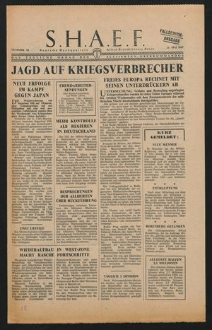 Supreme Headquarters Allied Expeditionary Force vom 21.05.1945