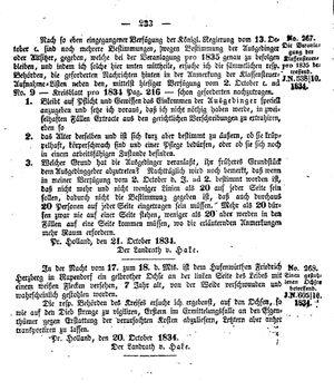 Kreisblatt des Königl. Preuss. Landraths-Amtes Preuss. Holland vom 27.10.1834