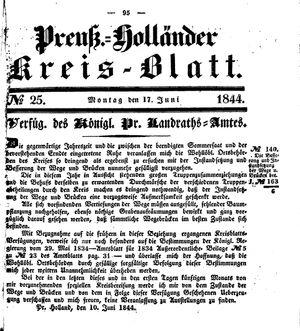 Kreisblatt des Königl. Preuss. Landraths-Amtes Preuss. Holland vom 17.06.1844