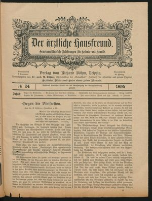 ˜Derœ ärztliche Hausfreund vom 09.01.1896