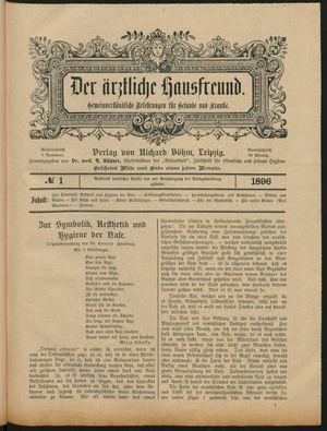 ˜Derœ ärztliche Hausfreund vom 23.01.1896