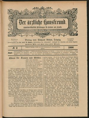 ˜Derœ ärztliche Hausfreund vom 11.02.1896