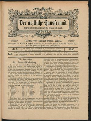 ˜Derœ ärztliche Hausfreund vom 19.03.1896