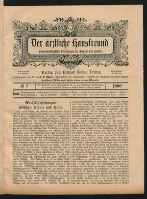 ˜Derœ ärztliche Hausfreund vom 23.04.1896