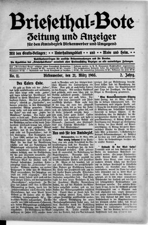 Briesetal-Bote on Mar 21, 1903