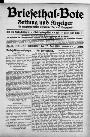 Briesetal-Bote vom 27.06.1903