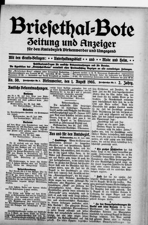 Briesetal-Bote vom 01.08.1903