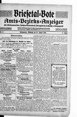 Briesetal-Bote vom 10.01.1906