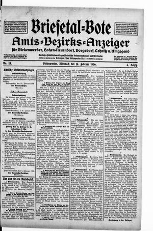 Briesetal-Bote on Feb 14, 1906