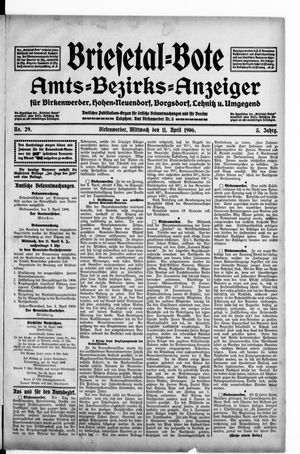 Briesetal-Bote vom 11.04.1906
