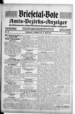 Briesetal-Bote vom 21.04.1906