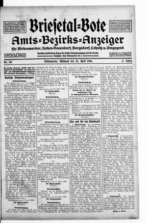 Briesetal-Bote vom 25.04.1906