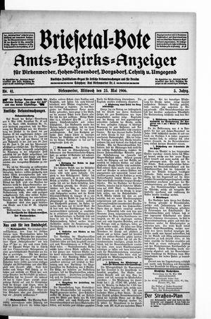 Briesetal-Bote on May 23, 1906