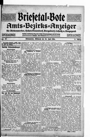 Briesetal-Bote vom 20.06.1906
