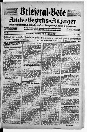 Briesetal-Bote vom 16.01.1907