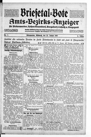 Briesetal-Bote vom 23.01.1907