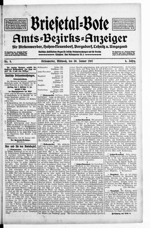 Briesetal-Bote vom 30.01.1907