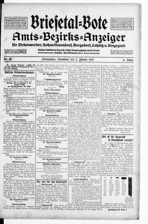Briesetal-Bote vom 02.02.1907
