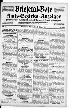 Briesetal-Bote vom 27.02.1907