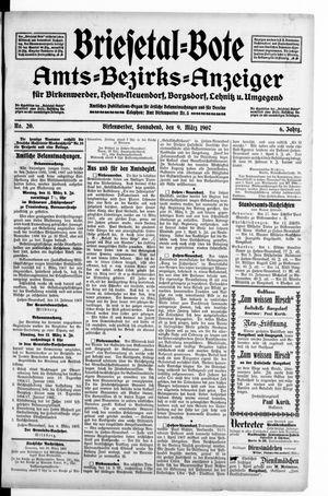 Briesetal-Bote on Mar 9, 1907