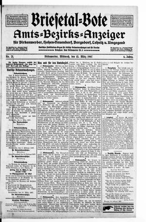 Briesetal-Bote vom 13.03.1907