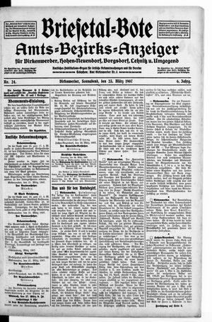 Briesetal-Bote vom 23.03.1907