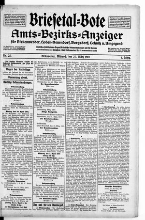 Briesetal-Bote vom 27.03.1907