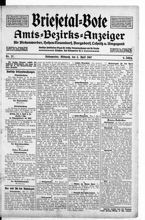 Briesetal-Bote vom 03.04.1907