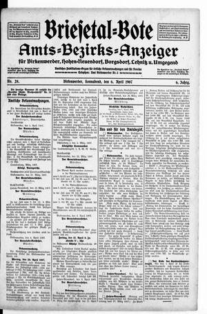 Briesetal-Bote vom 06.04.1907