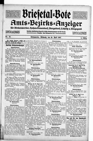 Briesetal-Bote vom 10.04.1907
