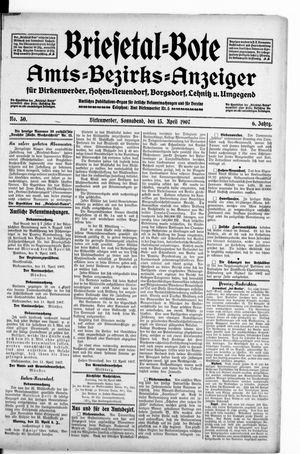 Briesetal-Bote vom 13.04.1907