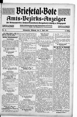 Briesetal-Bote vom 17.04.1907