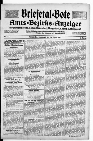Briesetal-Bote vom 20.04.1907