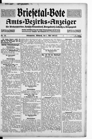 Briesetal-Bote vom 01.05.1907