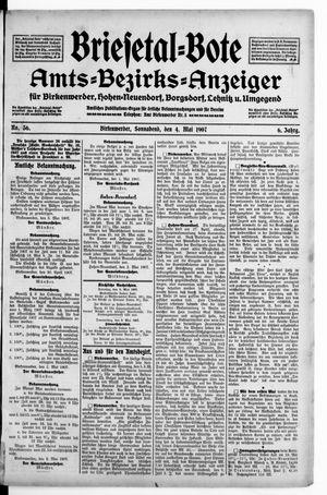 Briesetal-Bote vom 04.05.1907