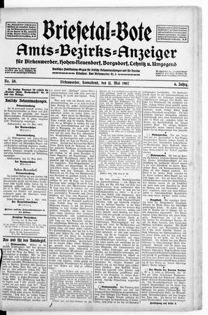 Briesetal-Bote vom 11.05.1907