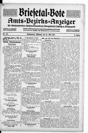 Briesetal-Bote vom 15.05.1907